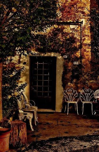 Patio, Tuscany, Italy