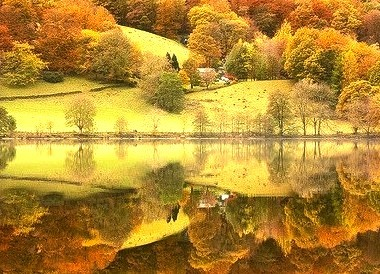 Autumn Reflection, Grasmere, England