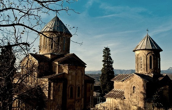 by Mia306 on Flickr.The Monastery of Gelati is a monastic complex near Kutaisi, Imereti, western Georgia. In Gelati is buried one of the greatest Georgian kings, David the Builder and in 1994, Gelati...