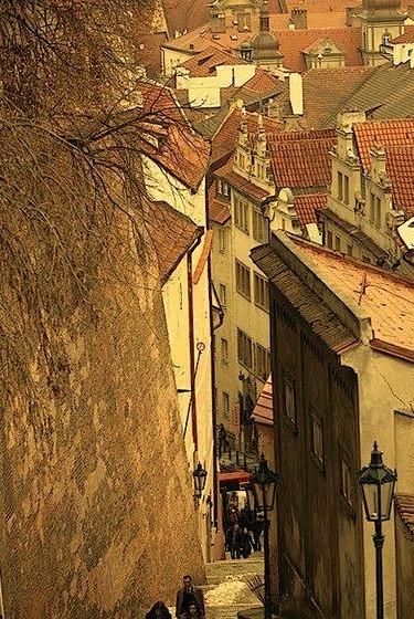 Ancient Street, Prague, Czech Republic