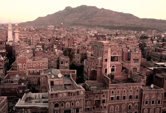 by Retlaw Snellac on Flickr.Traditional buildings in Sana'a - the capital city of Yemen.