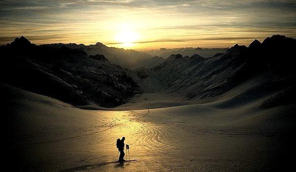 by Alpine Light & Structure on Flickr.Skiing on Oberaar Glacier in Bernese Alps, Switzerland.