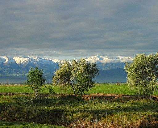 by neiljs on Flickr.Landscape in Central Asia with Kyrgyz Alatau Range in the background, Kyrgyzstan.