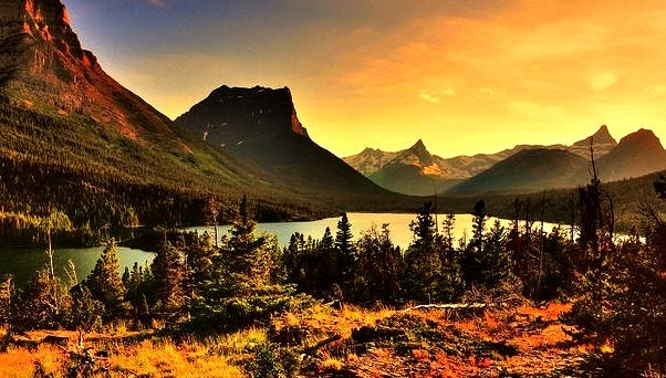 by [Maverick] on Flickr.Tranquil Evening in Glacier National Park, Montana, USA.