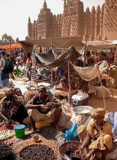 Market day in Djenne, Mali
