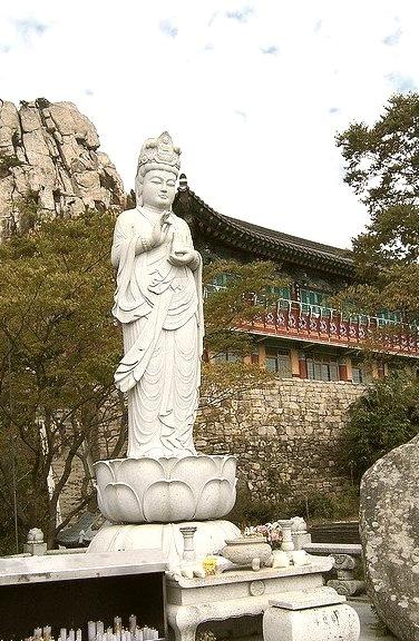 Buddhist temple in Namhae Island, South Korea