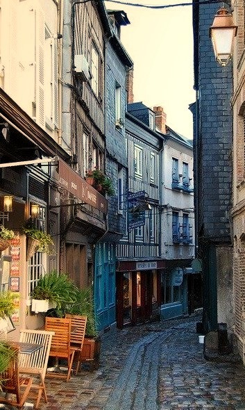 Narrow Street, Normandy, France