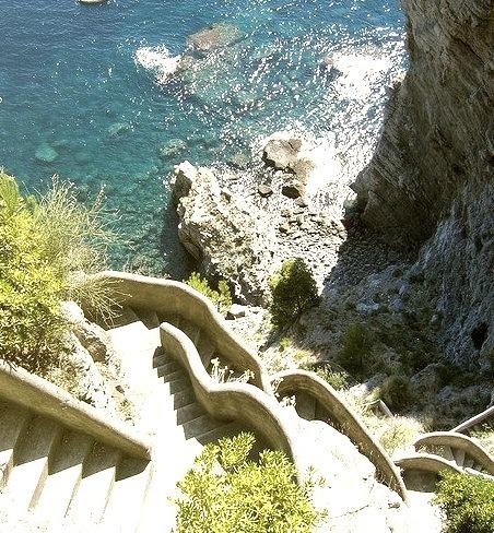Steps to the Sea, Positano, Italy