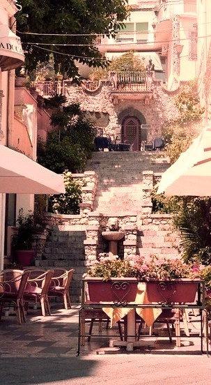 Stairway, Taormina, Sicily, Italy