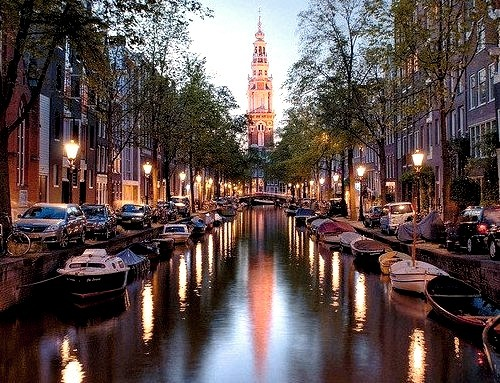 In the midst of canals, Amsterdam, Netherlands