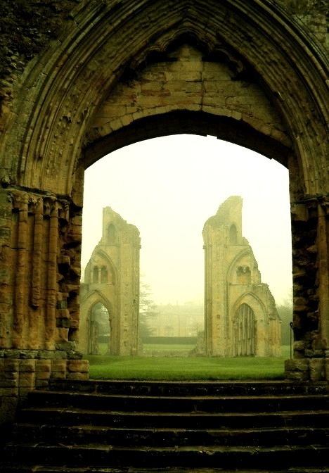 Mystical, Glastonbury Abbey Ruins, England