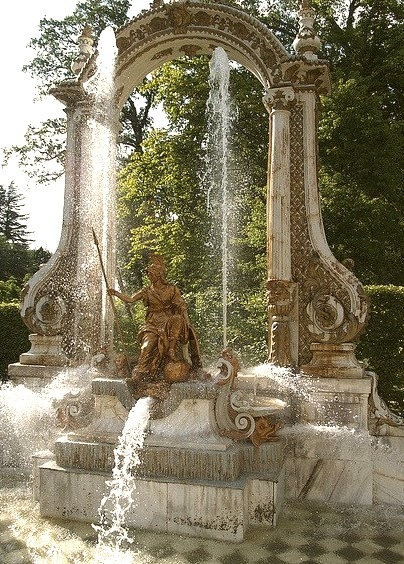 Minerva Fountain in La Granja de San Ildefonso, Spain