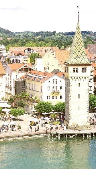 Panoramic view in Lindau, Bavaria, Germany