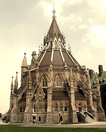 The Library of Parliament in Ottawa, Canada