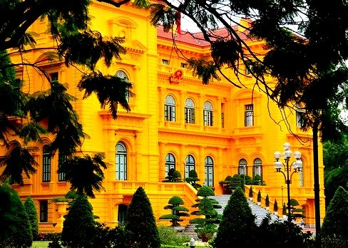 French Colonial Palace in Hanoi, Vietnam