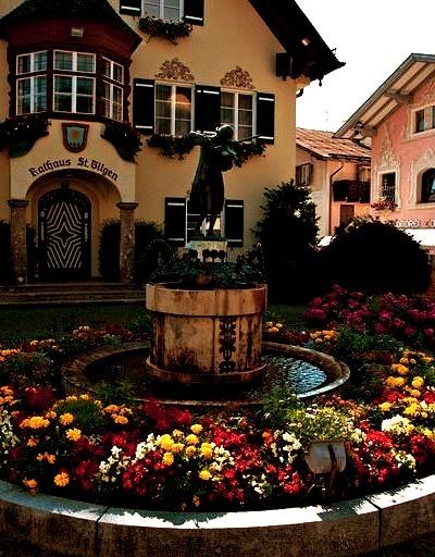 Picturesque village of Sankt Gilgen in Salzkammergut, Austria