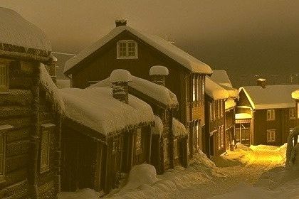 Winter's Night, Roros, Norway