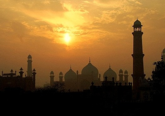 Old City skyline from the fort in Lahore, Pakistan