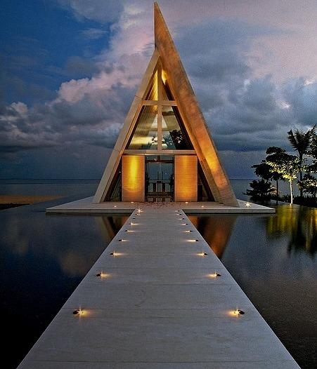 Wedding chappel at Conrad Hotel in Bali, Indonesia