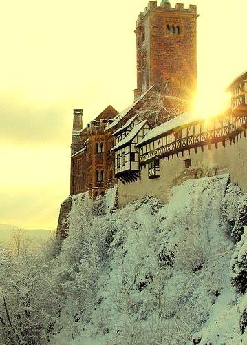 Winter at Wartburg Castle in Eisenach, Germany