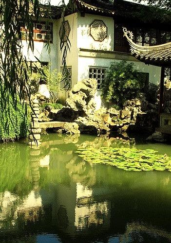 Lingering Garden reflections in Suzhou, China